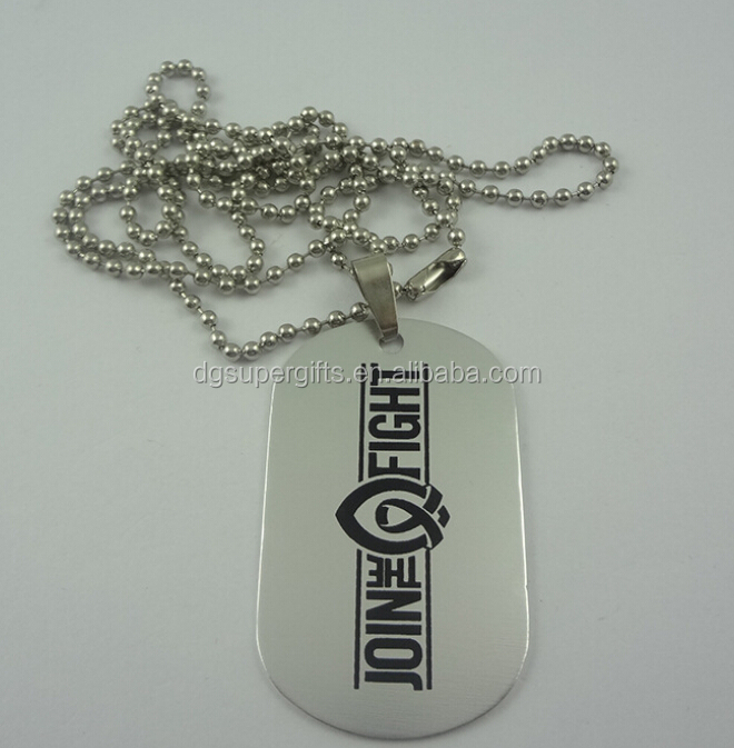 High polish Engraveable Personalized printing Stainless Steel Dog Tag