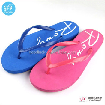 Promotional cheap summer beach slipper colorful flip flops
