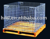 With wooden pallet For Wire container