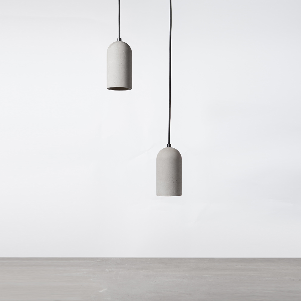Modern Industrial Style chandelier lamps and lights E27 Concrete Pendant Lamp for Dining Room Coffee house Living room