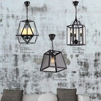 Cheap Triangle Pendant Lighting, E27 iron led hanging lamps
