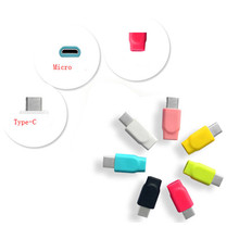 wholesale colourful micro usb to usb c adapter