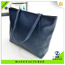 Toothpick texture woman good leather tote bag for shopping