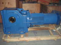 K series helical bevel gear motor with flange