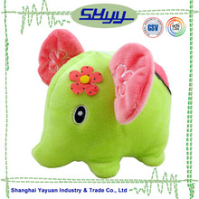 Small Size Green Color Round Elephant Plush Toys For Crane Machine