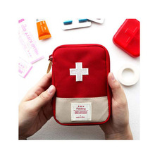 Small Travel Medicine Bag Organizer Camping Sport Medical Emergency Storage Pouch