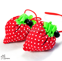 2015 polyester foldable strawberry shopping bag