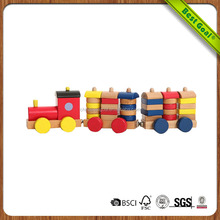 Magnetic urban train car building blocks wooden baby children 's educational toys