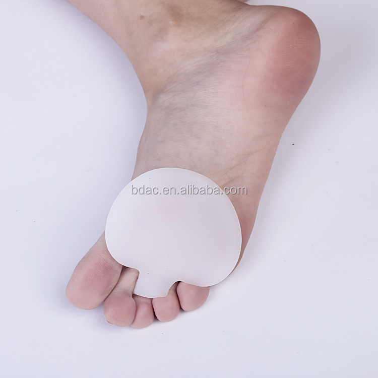 Hot Sell High Quality soft gel shoe toe cushion ball of foot insole metatarsal pad
