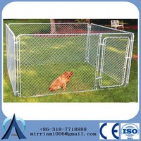 Anping lowest price dog run fence panels/chain link dog kennel panels