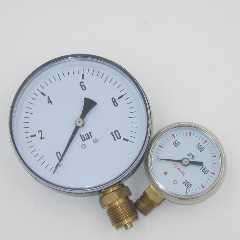 natural gas pressure gauge with brass connector