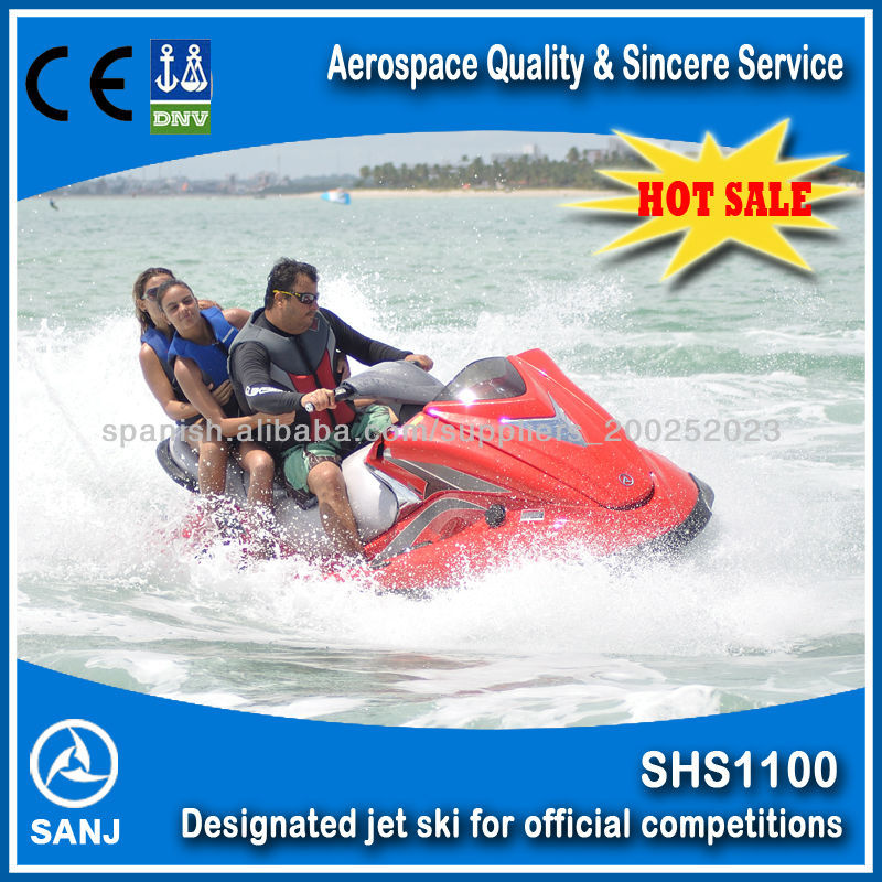 fiberglass 4 stroke engine water scooter 1100cc 1800cc mini jet ski motorboat