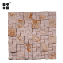 high technology stone wall herringbone water jet mosaic tile