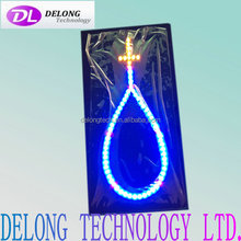 30X15cm indoor acrylic board led light cross