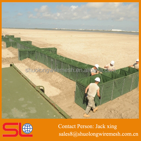 galvanized weled mesh hot dipped weaving geotextiles security military hesco bastion