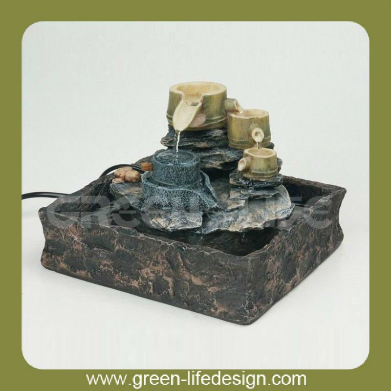 Polyresin Bucket shaped fountains waterfalls