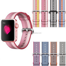 Good Quality Waterproof 38mm 42mm Nato Woven Nylon Loop Apple Watch Band With Pin Buckle Sport iwatch Strap