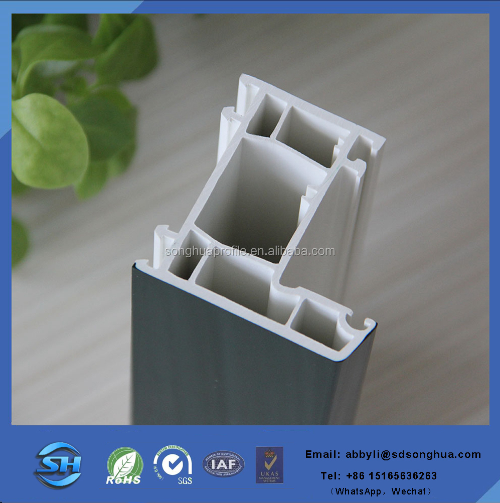 UPVC frame window profile with EPDM sealing strip