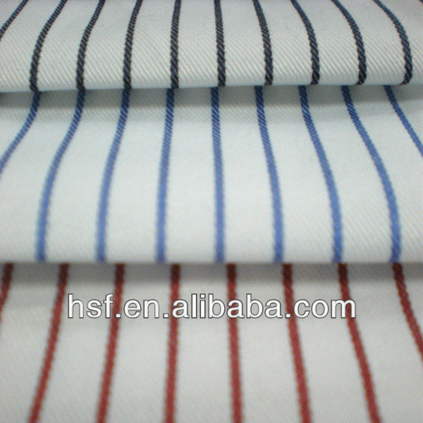 Wholesale 55%CO Striped Polyester Cotton Shirt Fabric