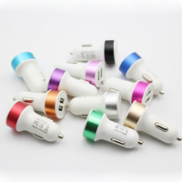 New arrival customize Colorful mini Universal car charger , single / dual usb car chargers for mobile phone