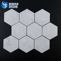 Natural carrara white marble mosaic
