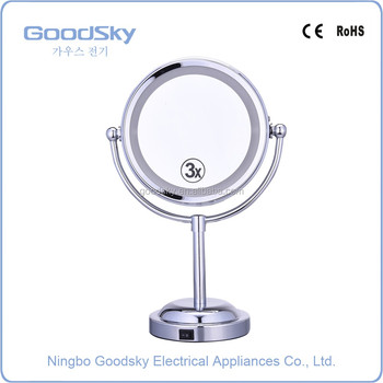 Stand up Battery LED Lighted Make up Mirror