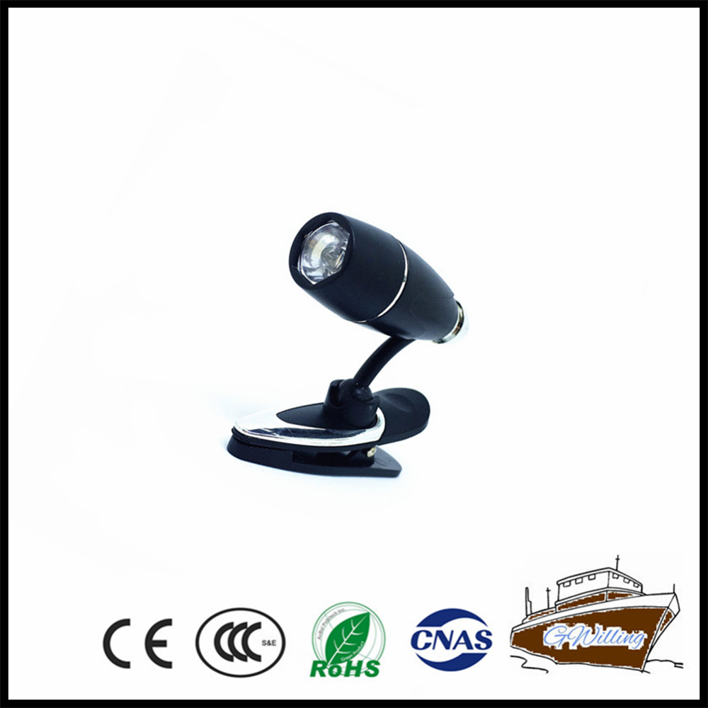 Battery Powered Led Clip Reading Light For Promotion