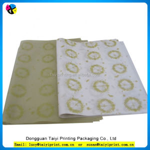 Custom design single logo wrapping tissue paper colorful tissue paper for garmet packing