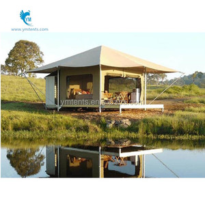 low price glass walls hexagon luxury resort tent 30sqm for sale