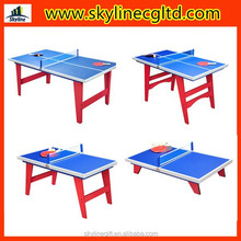 Unfolding or folding table legs ping pong table with different sizes