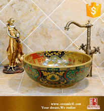 Hot Selling Decorative Porcelain Art Hand Foot Wash Basin