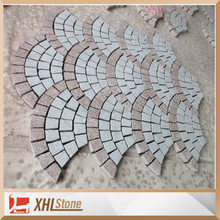 Chinese New design granite paving stone on net Fan-shaped paving stones