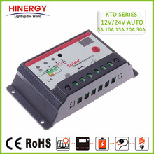 Hinergy 12V 24V 48V 5A 10A 15A 20A 30A Solar Charger Controller Manual PWM Solar Charge Controller