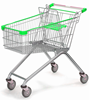 Factory Sale High Quality European Shopping Cart With 4 wheels RH-SE125 grocery shopping trolley