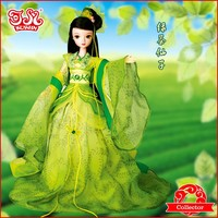 Chinese dressed up plastic child doll