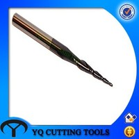 HRC55 Solid Carbide Taper Ball Nose End Mill with TIALN Coating
