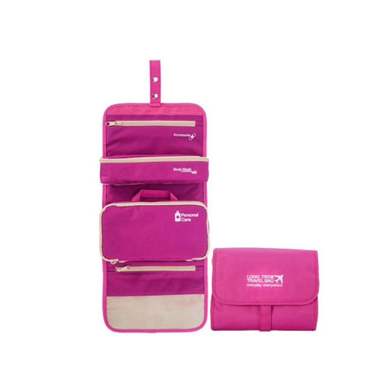 Promotional Fashion Hanging Travel Nylon Custom Cosmetic Bag For Cosmetics Convenience