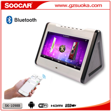 2016 new product vietnam Bluetooth touchscreen MP4 Wifi Android Karaoke Player with battery