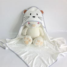 Baby bamboo hooded towel with lovely design bamboo towel with hooded 500GSM