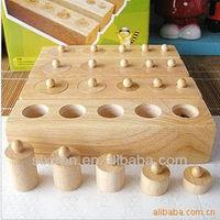 Plug the small cylinder/Montessori toys