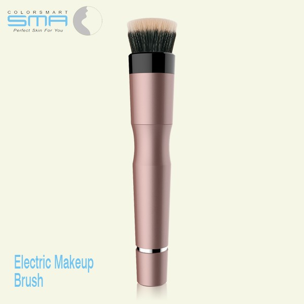 New arrival electric automated rotating bare minerals foundation brush for makeup with replaceable brush heads