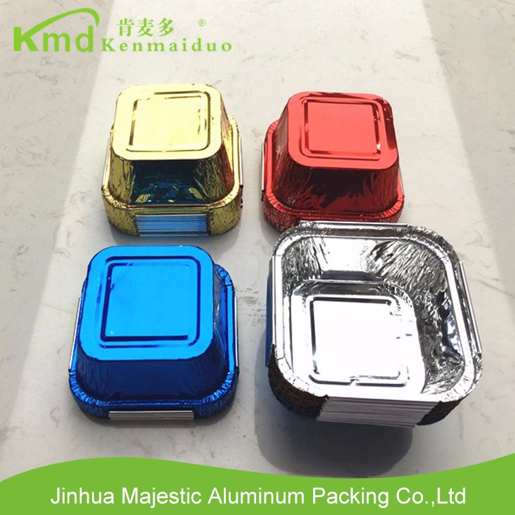Colorful Aluminum foil container with lid