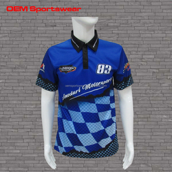 OEM sublimated motorcycle shirt mens racing polo