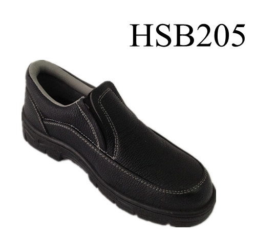 wholesale price easy wear slip on leather safety type work shoes for factory