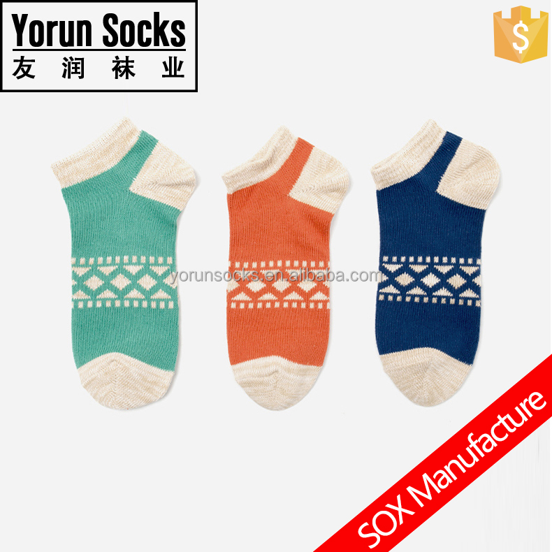 multi-color cotton ankle men socks high quality