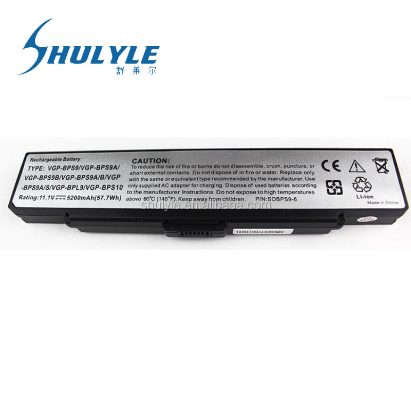 Laptop Battery For Sony Vaio VGN-AR71ZU VGN-CR11H/B VGN-CR11S/L