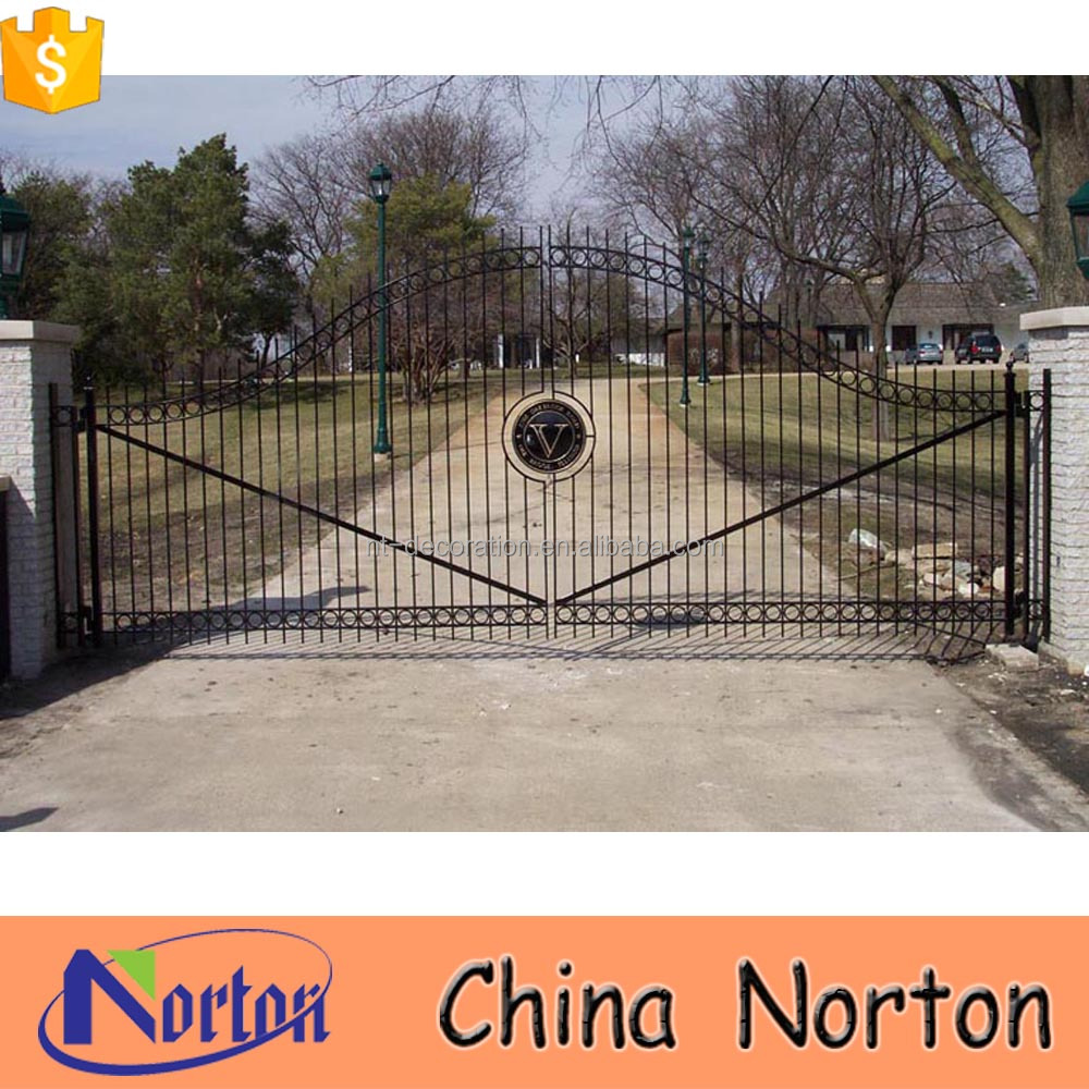 boundary wall gates different steel gate designs paints for iron gate NTIRG-358X