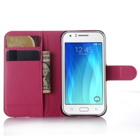 2016 hot selling for samsung for galaxy j1 leather cover case