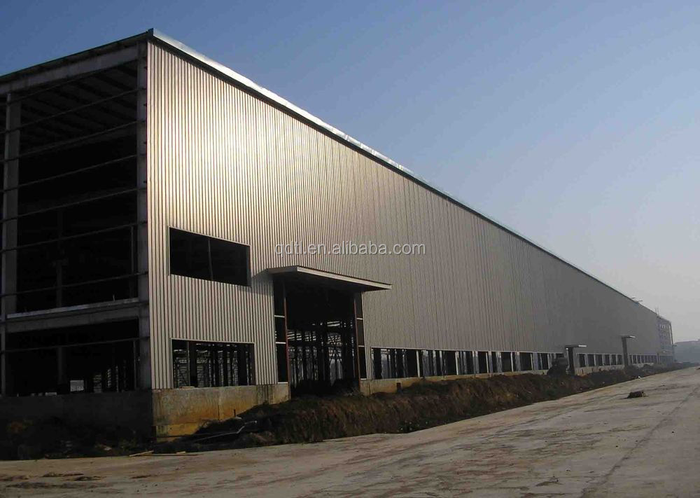 heavy steel frame prefabricated chicken shed