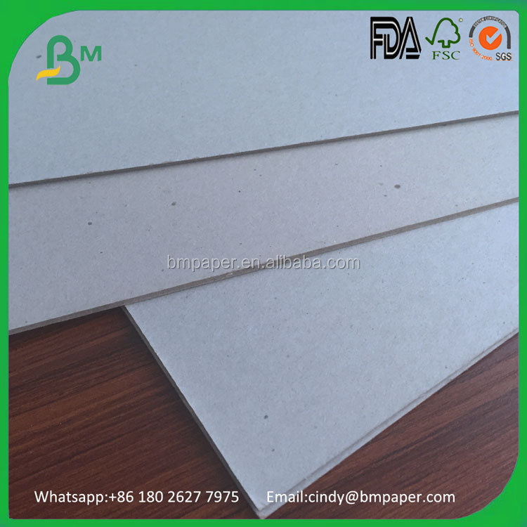 High quality 700*1000mm grey chip folding board for shoe boxes